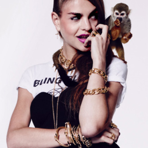Monkey Charly crests the jewelry