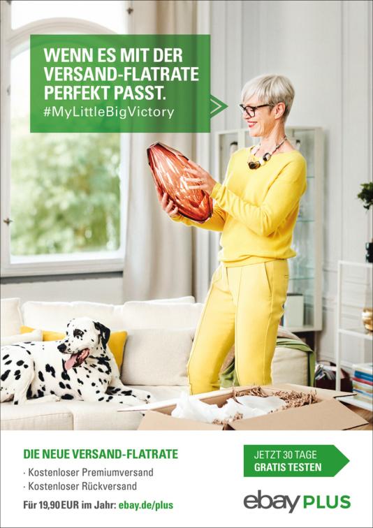 Ebay Plus mit Dalmatiner Champsy